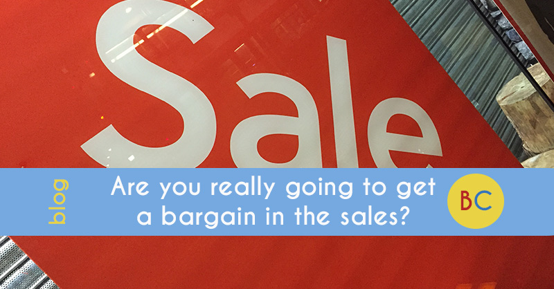 Are you really going to get a bargain in the sales?