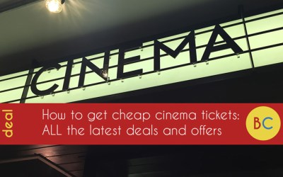 Latest cheap cinema tickets offers and deals