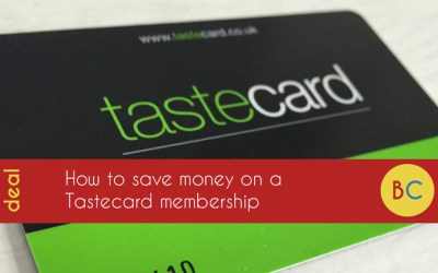 Latest cheap Tastecard offers: one month free | 3 months for £1 | one year for £24 after cashback