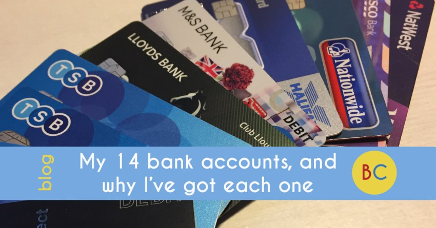 My 14 bank accounts, and why I've got each one