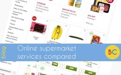 Online supermarket services compared