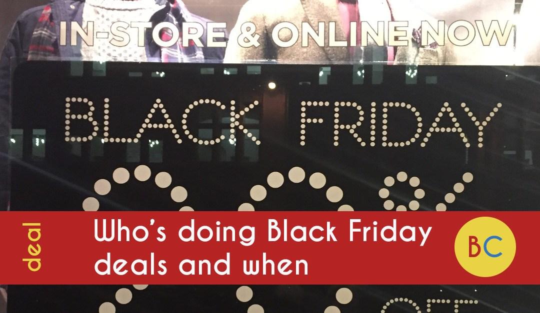 black friday deals when