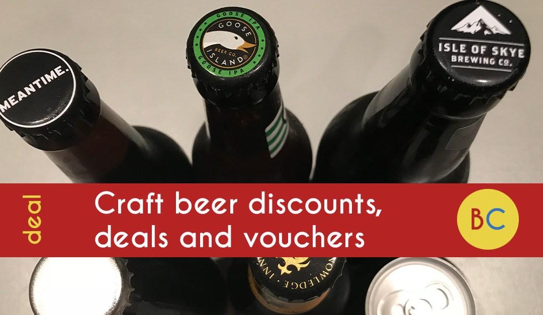 Craft beer discounts, deals and vouchers
