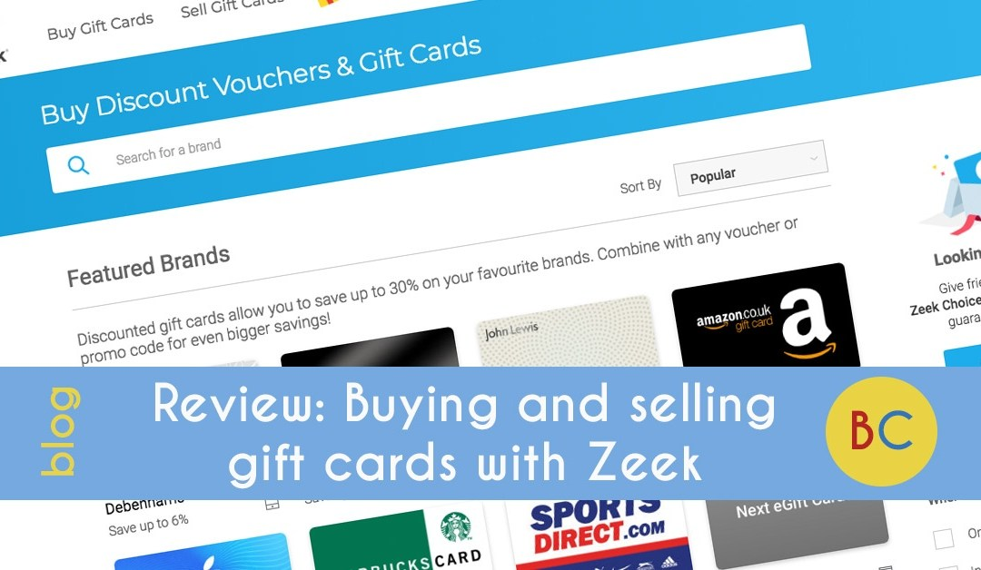 Review: Buying and selling gift cards with Zeek