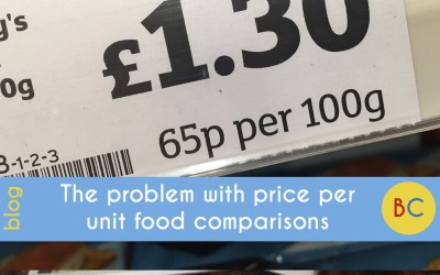The problem with price per unit food comparisons