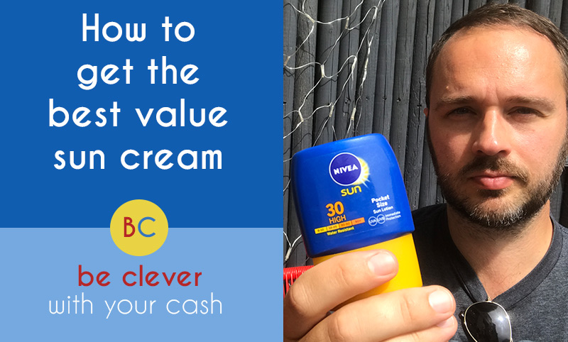 How to get the best value sun cream