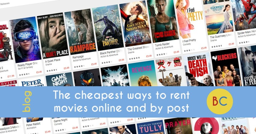 The cheapest way to rent movies online and by post