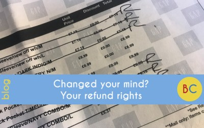 Changed your mind? Your refund rights