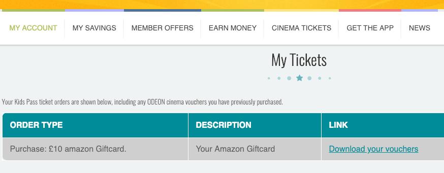 Kids Pass my tickets