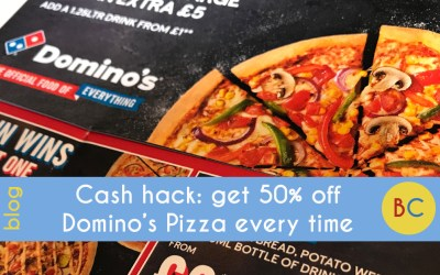 Get 50% off Domino's Pizza every time