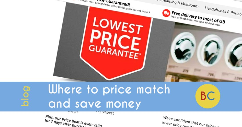 Where to price match and save cash