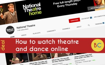 How to watch theatre and dance online at home