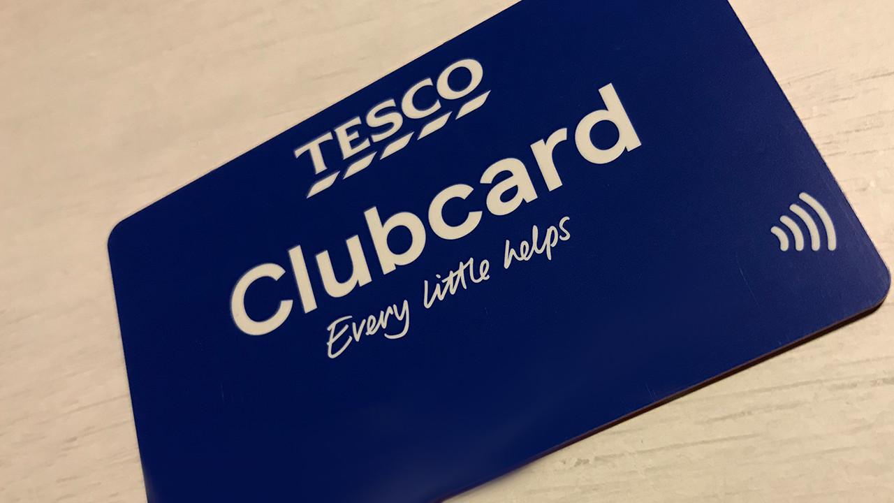 Tesco Clubcard voucher and card
