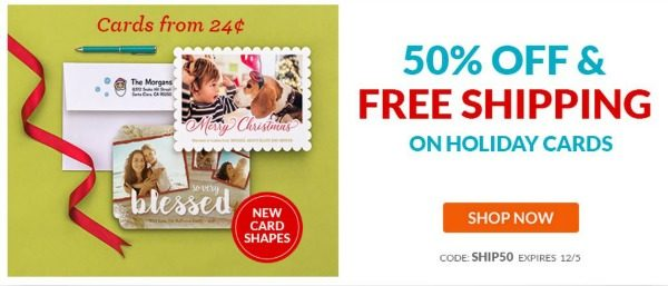 50 OFF Holiday Cards FREE Shipping From York Photo
