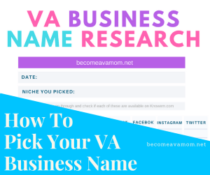 Pick your business name