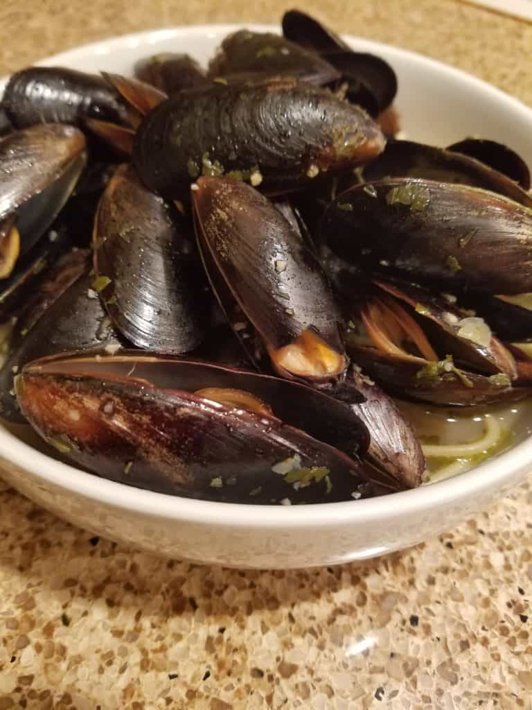 Trader Joe's Mussels in a White Wine Sauce