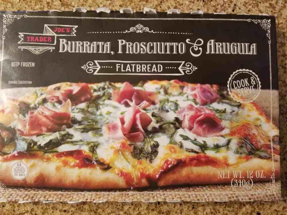 Trader Joe's Burrata, Prosciutto and Arugula Flatbread