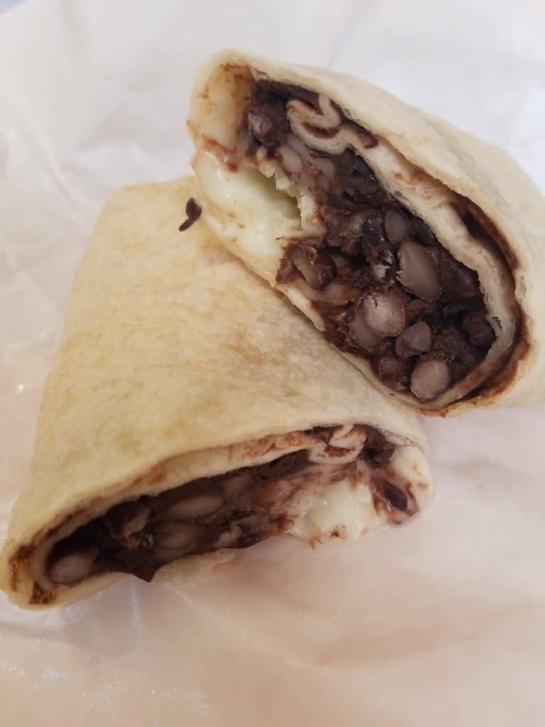 Trader Joe's Black Bean and Jack Cheese Burrito