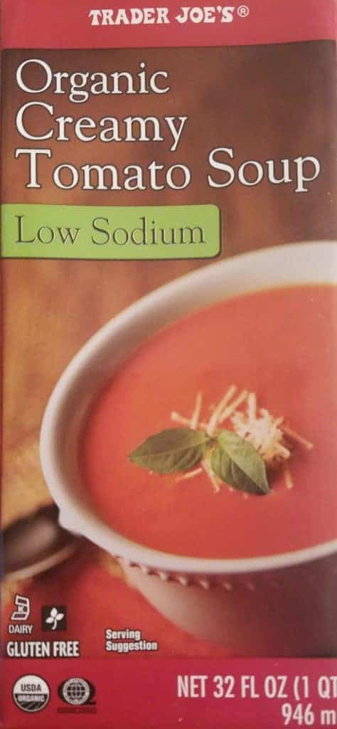Trader Joe's Organic Low Sodium Tomato Soup