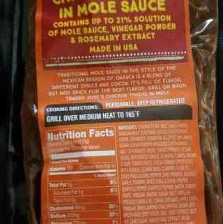 Trader Joe's Oaxacan Inspired Chicken Thighs in Mole Sauce