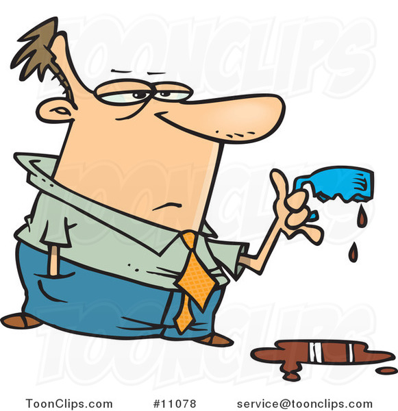 cartoon-business-man-holding-a-cup-melted-by-strong-coffee-by-ron-leishman-11078.jpg