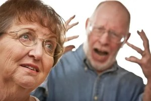 Alzheimer's aggression with angry outbursts