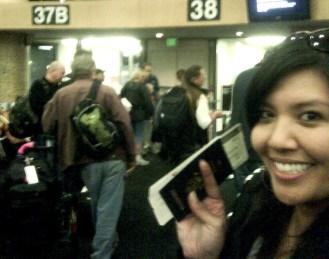 Taken on Dec 1, 2009, just before boarding my flight to Sydney