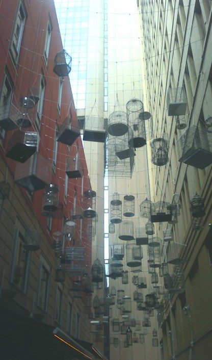 art installation in the city