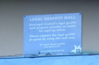Yes, city councils in Australia offer places to do graffiti legally. How cool is that?