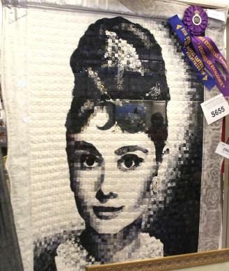 Audrey Hepburn as a quilt