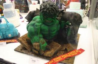 The Hulk as a cake craft