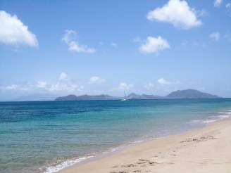 View of Saint Kitts from Nevis