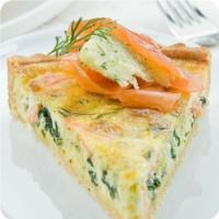 Salmon and Spinach Quiche - A French Delicacy