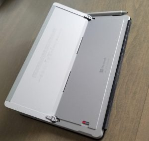 rear view of surface go tablet