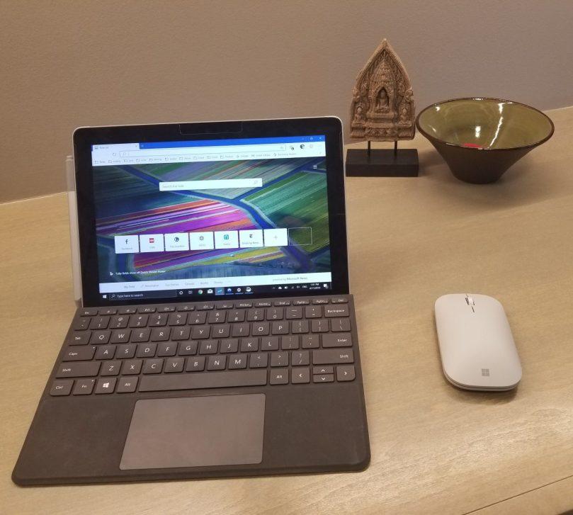 surface go table on desk