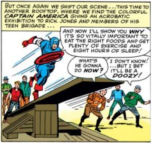 Captain Walking PSA. (Avengers #5)