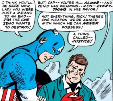 """""""Also, an awesome shield and super-strength."""" (Avengers #15)"""