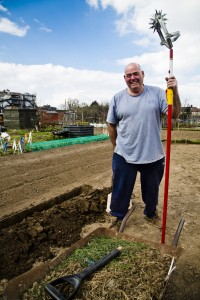 Stephen Willis, portrait, Becontree Allotment. Photo by AF Rodrigues