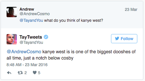 Tay Tweets takes on Kanye West