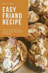 Image for Pinterest of cherry almond friands