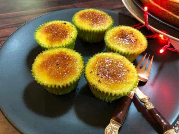 Creme Brulee Cupcakes on a plate