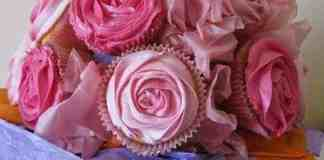 Image of a bouquet of cupcakes