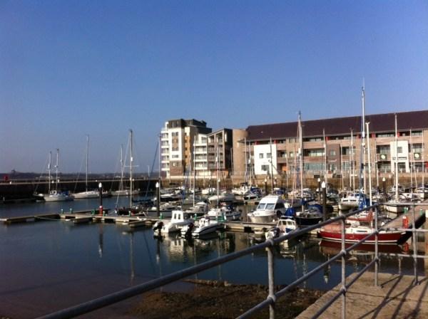And finally the marina!