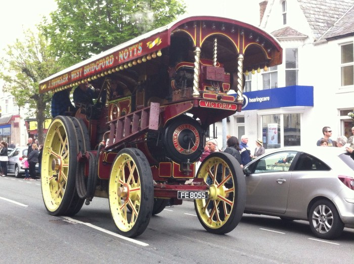 Traction engines - Little Miss didn't like it when they whistled!