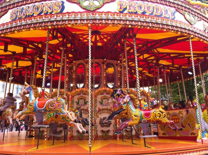 A traditional carousel