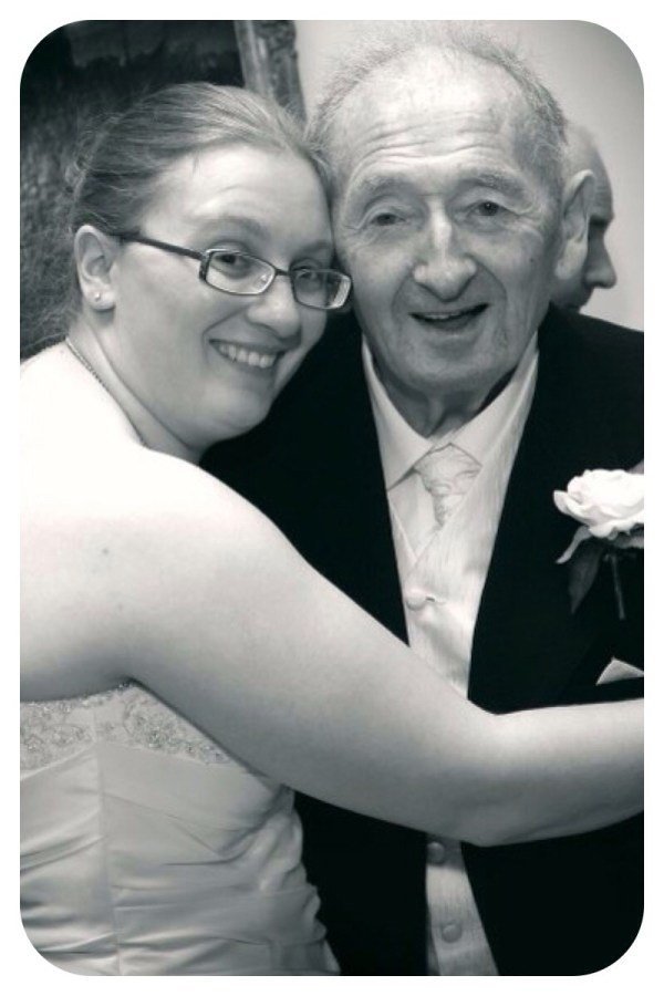Taid & I at my wedding last year