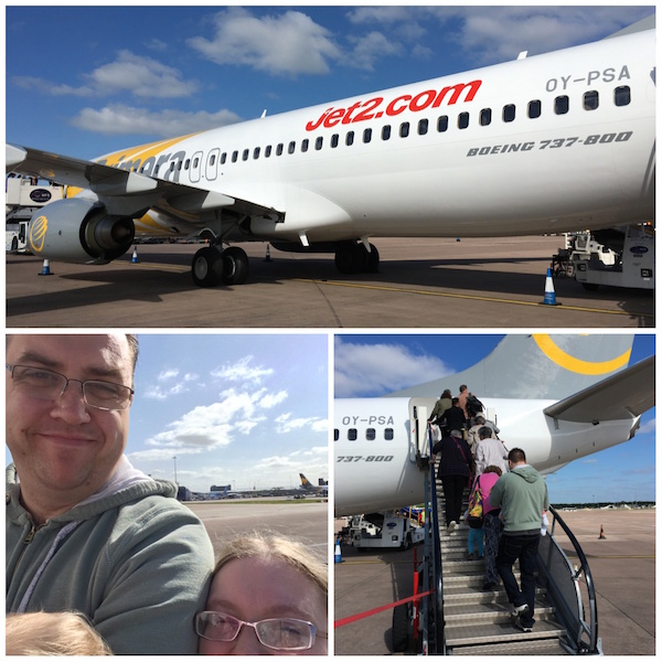 Our airplane to Lanzarote