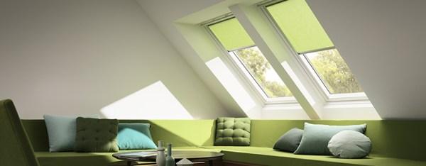 Velux Roller Blind in Green from RoofBlinds.co.uk