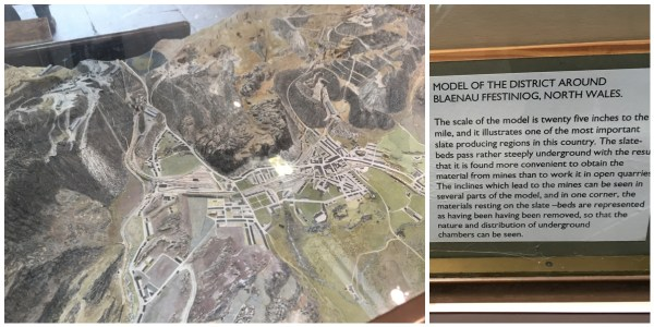 Scale model of the Blaenau Ffestiniog quarries at Welsh Slate Museum