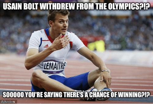 Olympics - no Ussain Bolt?